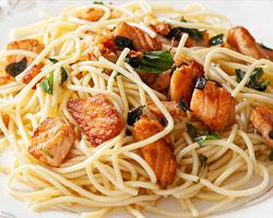 Spaghetti à Salmone